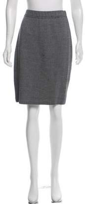 St. John Knit Knee-Length Skirt Black Knit Knee-Length Skirt
