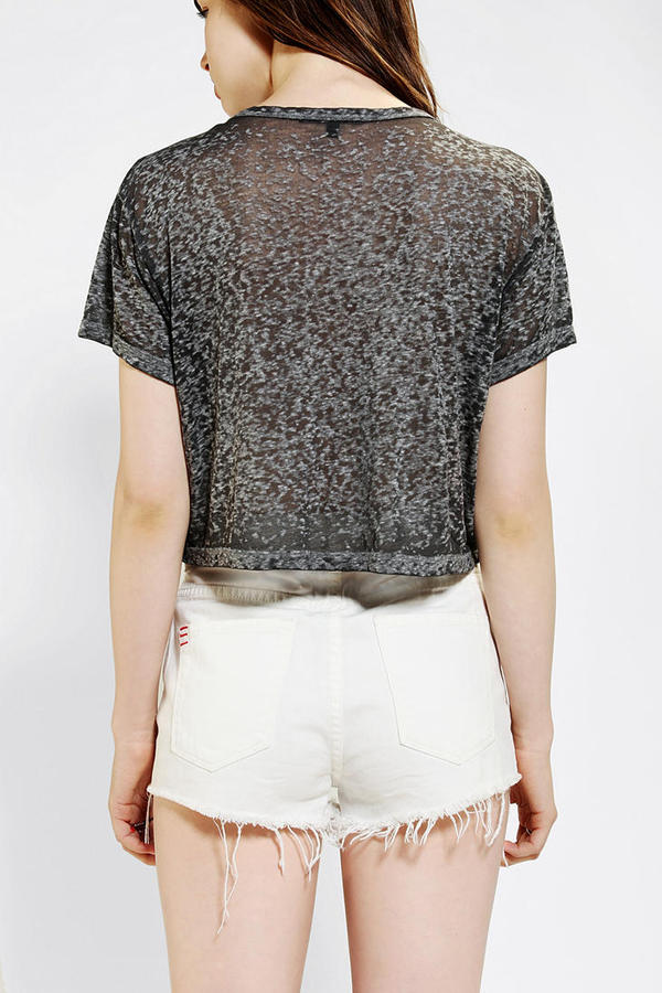 Truly Madly Deeply Embellished Cropped Boyfriend Tee