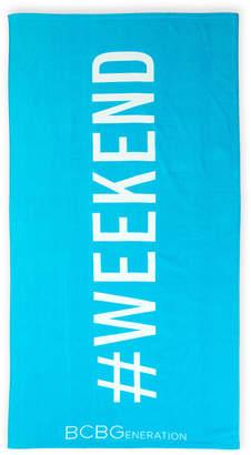 BCBGeneration Hashtag Weekend Beach Towel