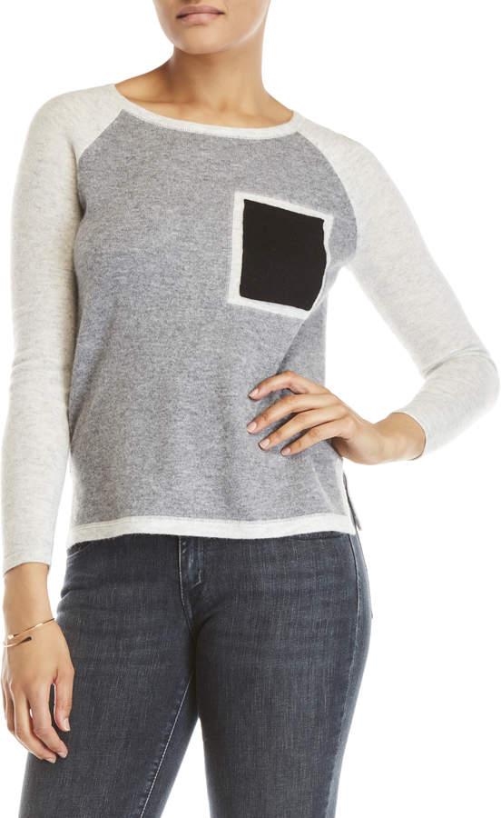 In Cashmere Color Block Cashmere Sweater