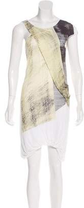 Helmut Lang Abstract Print Mini Dress