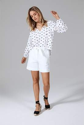 Country Road Spot Lace Trim Blouse