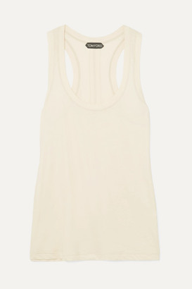Tom Ford Cotton-jersey Tank - Beige
