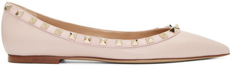 Valentino Pink Rockstud Flats $775 thestylecure.com