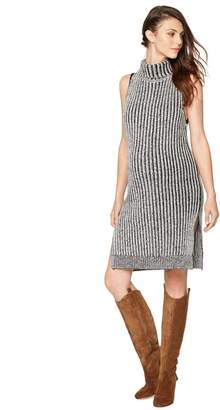 Shae Pea Collection Sleeveless Turtleneck Maternity Sweater Dress