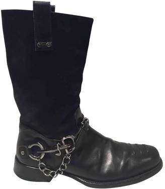 Cesare Paciotti Black Leather Boots