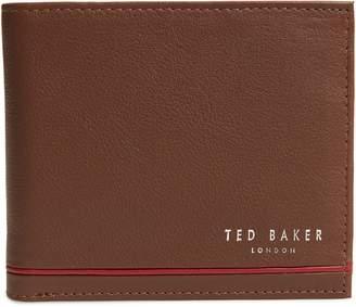 Ted Baker Stripe Detail Leather Bifold Wallet