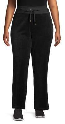 Calvin Klein Plus Velour Wide-Leg Pants