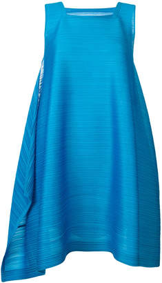 Pleats Please Issey Miyake square neck dress