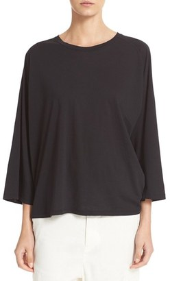 Women's Vince Full Raglan Sleeve Cotton & Cashmere Tee $185 thestylecure.com