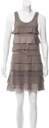 Theory Tiered Sleeveless Dress