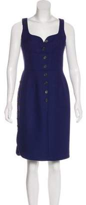 Derek Lam Virgin Wool Knee-Length Dress
