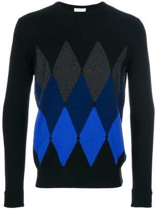 Ballantyne diamond knit cashmere jumper