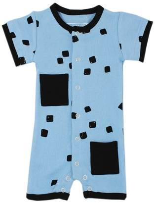 L'ovedbaby Short-Sleeve Romper River Stone 9-12 Months