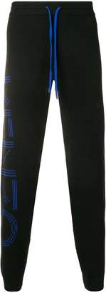 Kenzo ribbed knit logo track trousers