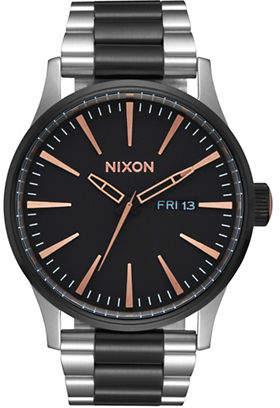 Nixon Sentry Stainless Steel Black Bracelet Watch