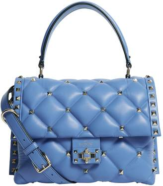 Valentino Leather Candystud Top Handle Bag