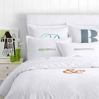 Make Your Mark Cotton Duvet + Sham, Personalized or Monogrammed
