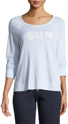 Sundry Sunrise Cropped Graphic Pullover