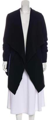 Closed Wool Open-Front Coat