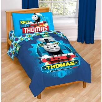 Thomas & Friends Race Friends 4 Piece Toddler Bedding Set