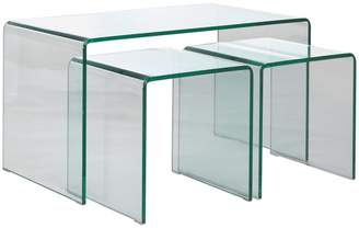 Gala Glass nested coffee and side tables