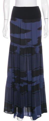 Michael Kors Silk Printed Skirt