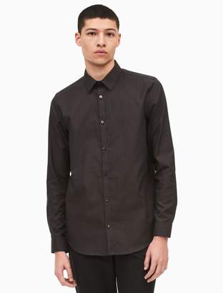 Calvin Klein regular fit infinite cool non-iron wide dobby stripe shirt