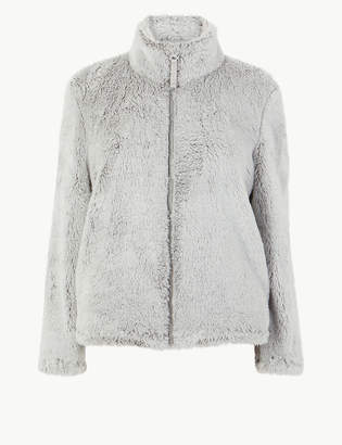 Marks and Spencer Fleece Long Pile Zip-Up Snuggle Top