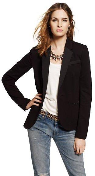 Juicy Couture Ponte Tuxedo Blazer