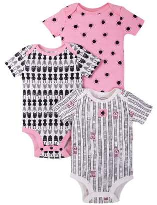 Lamaze Organic Cotton Short Sleeve Graphic Bodysuits, 3-pack (Baby Girls)