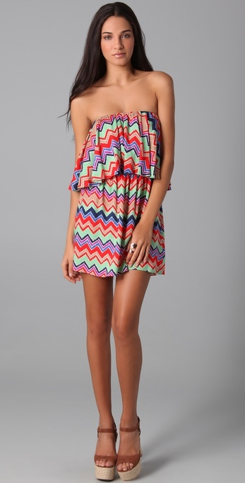 Tbags los angeles Lucia Strapless Mini Dress