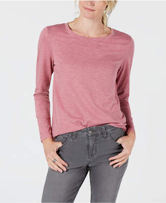 Style&Co. Style & Co Long-Sleeve Crewneck Top, Created for Macy's