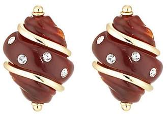 Kenneth Jay Lane WOMEN'S SHELL STUD EARRINGS - GOLD