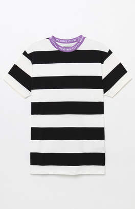 Civil Stripe Contrast Crew Neck T-Shirt