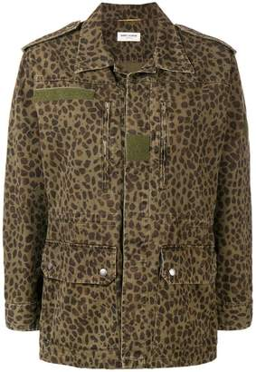 Saint Laurent leopard print jacket
