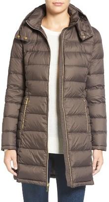 Women's Michael Michael Kors Packable Quilted Down Coat $210 thestylecure.com