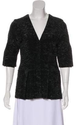 Burberry Textured Snap Jacket