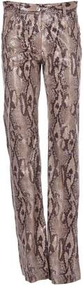 MSGM Snake Effect Bootcut Trousers