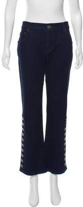Chloé Cropped Flared Jeans