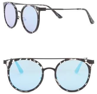 Quay Kandy Gram Round Brow Bar Sunglasses