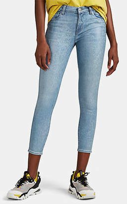 J Brand Women's 835 Coated Mid-Rise Crop Skinny Jeans