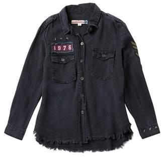 Vintage Havana Patch Button Down Shirt (Big Girls)