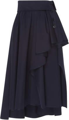 Dice Kayek Asymmetric Midi Skirt