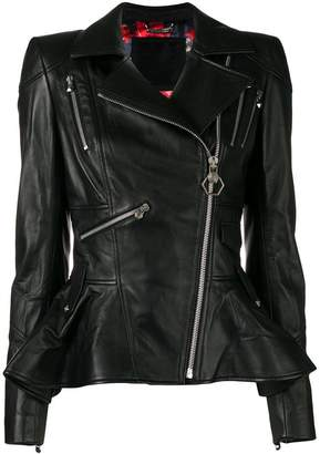 Philipp Plein Elegant biker jacket