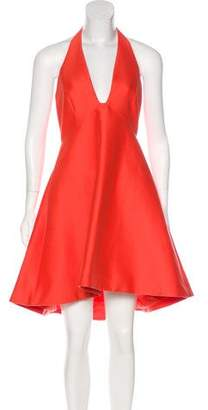 Halston A-Line Halter Dress