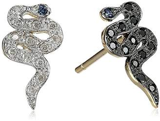 Kacey K Mini Mix Matched Diamond Snake Stud Earrings