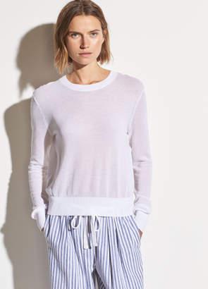 Textured Cotton Long Sleeve