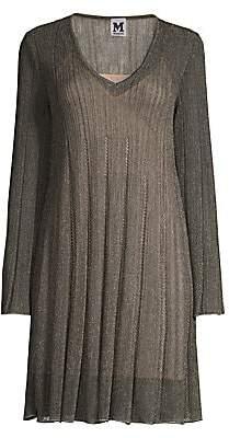 M Missoni Women's Lurex V-Neck Shift Dress