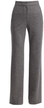 St. John Stretch-Wool Melange Flannel Pants